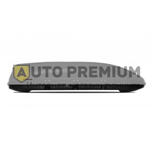 Автобокс на крышу Серый Turino Sport (480 л) Аэродинамический с двусторонним открыванием на крышу автомобиля